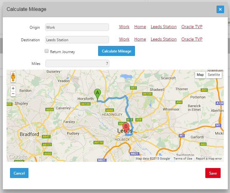 Calculating Mileage in an APEX 50 Application Oracle – Map Uk Distance Calculator