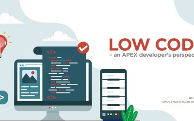 Low Code – an APEX developer's perspective